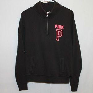 PINK Victoria's Secret XS Black 1/2 ZIp Sweatshirt